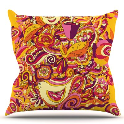 Utopia by Alisa Drukman Throw Pillow Size: 18 H x 18 W x 1 D
