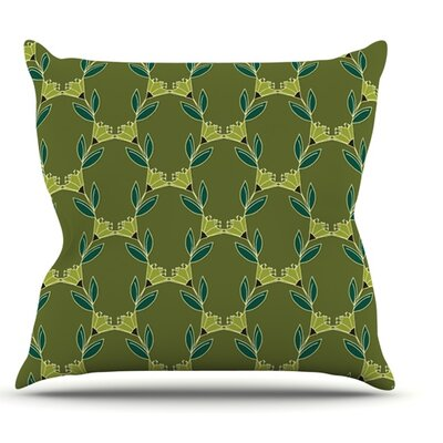 Flora Vine by Holly Helgeson Throw Pillow Size: 16 H x 16 W x 1 D