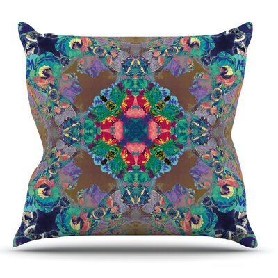 Flowery by Danii Pollehn Floral Kaleidoscope Throw Pillow Size: 16 H x 16 W x 1 D