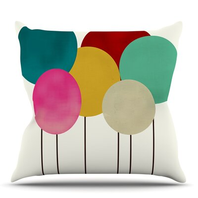 Celebration by Bri Buckley Throw Pillow Size: 18 H x 18 W x 1 D