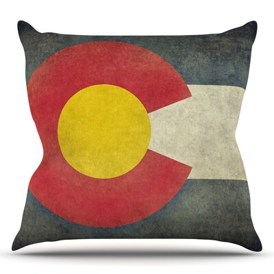 State Flag of Colorado by Bruce Stanfield Throw Pillow Size: 20 H x 20 W x 1 D