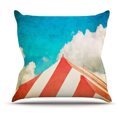 The Big Top by Ann Barnes Throw Pillow Size: 18 H x 18 W x 1 D
