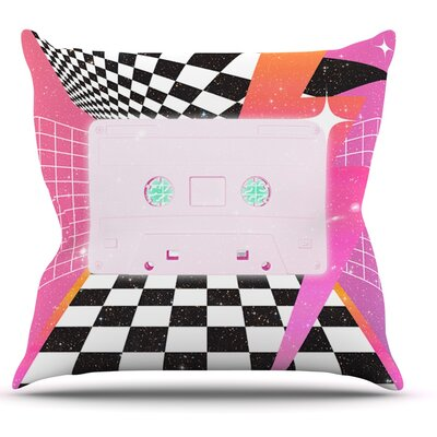 K7 by Danny Ivan Casette Throw Pillow Size: 26 H x 26 W x 1 D
