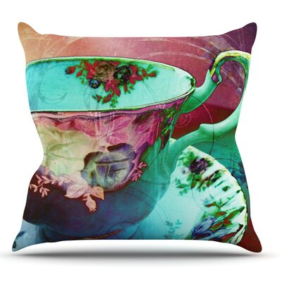 Mad Hatters T-Party VI by alyZen Moonshadow Throw Pillow Size: 26 H x 26 W x 1 D