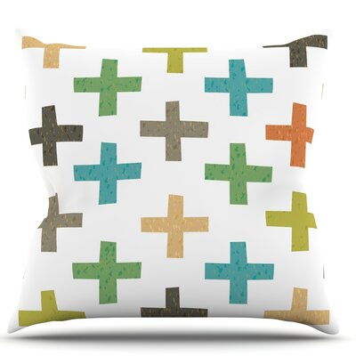 Hipster Crosses by Daisy Beatrice Throw Pillow Size: 26 H x 26 W x 1 D