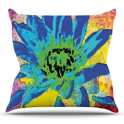 Wild Lotus by Anne LaBrie Flower Throw Pillow Size: 18 H x 18 W x 1 D