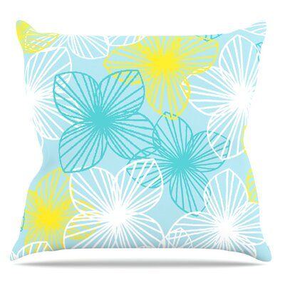 Aqua Sunshine by Emine Ortega Throw Pillow Size: 20 H x 20 W x 1 D