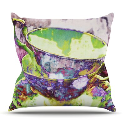 Mad Hatters T-Party II by alyZen Moonshadow Throw Pillow Size: 16 H x 16 W x 1 D