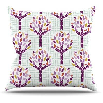 Orchid Spring Tree by Pellerina Design Abstract Throw Pillow Size: 20 H x 20 W x 1 D