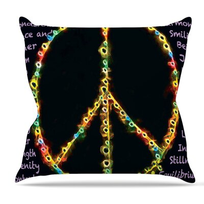 Peaceful Meditation by Anne LaBrie Rainbow Throw Pillow Size: 16 H x 16 W x 1 D