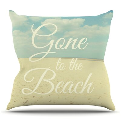 Gone To The Beach by Alison Coxon Throw Pillow Size: 18 H x 18 W x 1 D