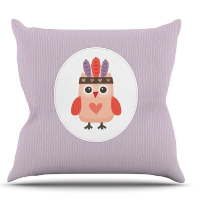 Hipster Owlet by Daisy Beatrice Throw Pillow Size: 16 H x 16 W x 1 D
