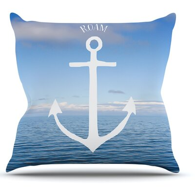 Roam III by Ann Barnes Anchor Throw Pillow Size: 26 H x 26 W x 1 D