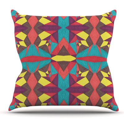 Abstract Insects by Empire Ruhl Throw Pillow Size: 18 H x 18 W x 1 D