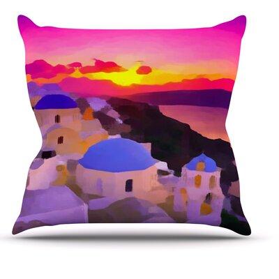 My Konos by Oriana Cordero Sunset Throw Pillow Size: 18 H x 18 W x 3 D