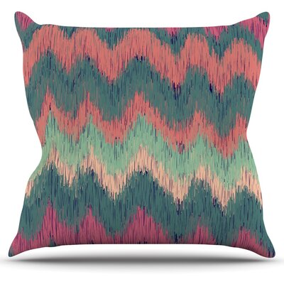 Ikat Chevron by Nika Martinez Throw Pillow Size: 18 H x 18 W x 3 D