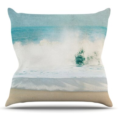 Ocean by Ingrid Beddoes Wave Throw Pillow Size: 18 H x 18 W x 3 D