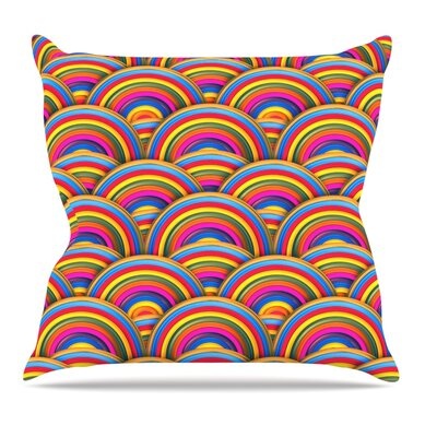 Rainbows by Danny Ivan Throw Pillow Size: 16 H x 16 W x 1 D