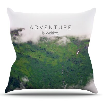 Adventure is Waiting by Ann Barnes Mountain Throw Pillow Size: 26 H x 26 W x 1 D