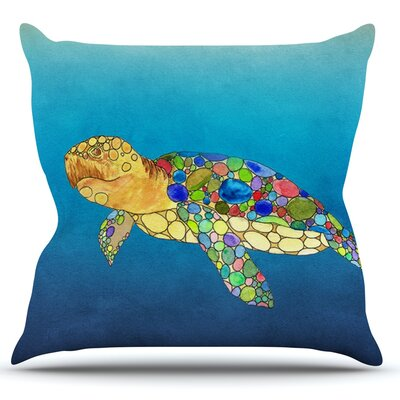 Bubbles by Catherine Holcombe Turtle Throw Pillow Size: 26 H x 26 W x 1 D