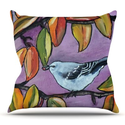 Mockingbird by Cathy Rodgers Throw Pillow Size: 26 H x 26 W x 1 D