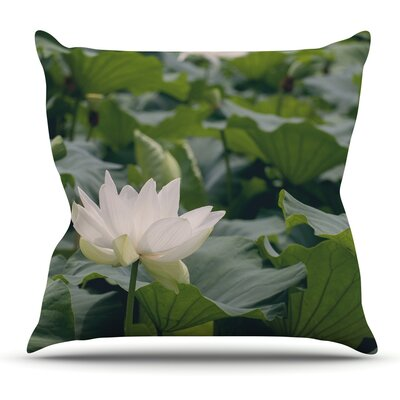 Lotus by Catherine McDonald Throw Pillow Size: 26 H x 26 W x 1 D