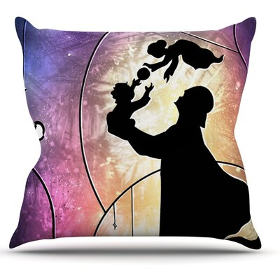 Father's Day by Mandie Manzano Star Wars Throw Pillow Size: 18