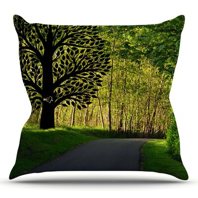 Love Nature by Robin Dickinson Forest Throw Pillow Size: 18