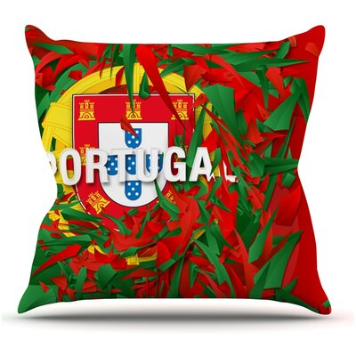 Portugal by Danny Ivan World Cup Throw Pillow Size: 18 H x 18 W x 1 D