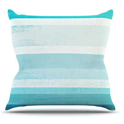 Waves by CarolLynn Tice Throw Pillow Size: 16 H x 16 W x 1 D