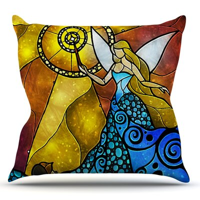 Fairy by Mandie Manzano Throw Pillow Size: 16 H x 16 W x 3 D