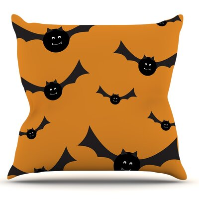 Going Batty Throw Pillow Size: 26 H x 26 W x 5 D