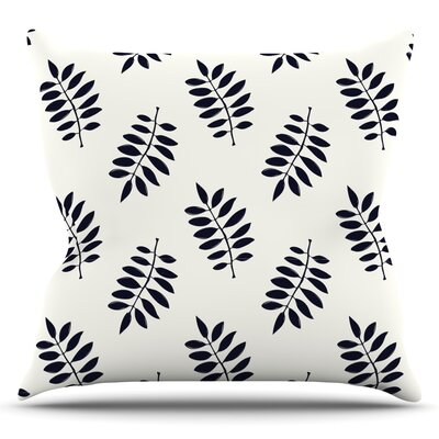 Pagoda Leaf Small by Laurie Baars Throw Pillow Size: 16
