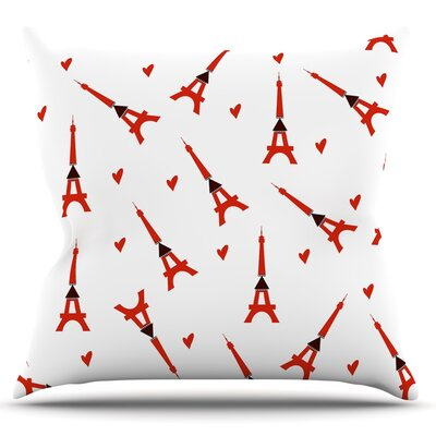 Paris by Louise Throw Pillow Size: 18 H x 18 W x 3 D