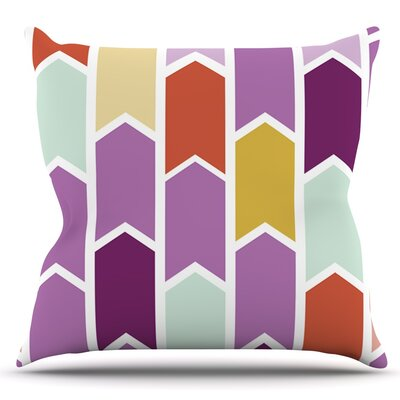 Orchid Geometric Chevron by Pellerina Design Arrows Throw Pillow Size: 26 H x 26 W x 1 D