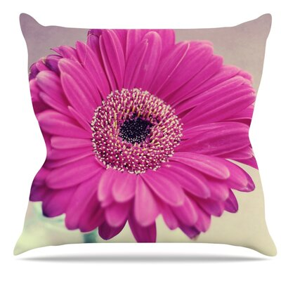 Pretty Daisy by Nastasia Cook Flower Throw Pillow Size: 18 H x 18 W x 3 D