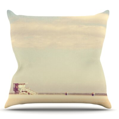Toffee Marshmallow by Myan Soffia Sandy Beach Throw Pillow Size: 18 H x 18 W x 3 D
