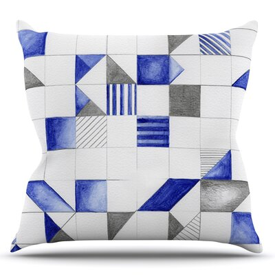 Winter Geometry by Kira Crees Throw Pillow Size: 16 H x 16 W x 3 D