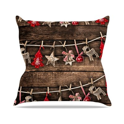 Hanging Around by Snap Studio Throw Pillow Size: 18 H x 18 W x 3 D
