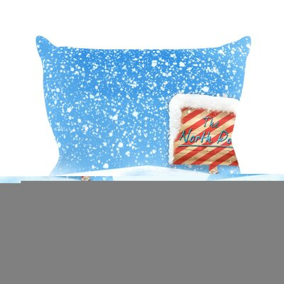 North Pole by Snap Studio Snow Throw Pillow Size: 26 H x 26 W x 5 D