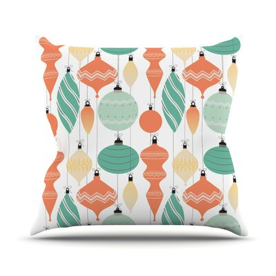Mixed Ornaments Throw Pillow Size: 16 H x 16 W x 3 D, Color: Orange