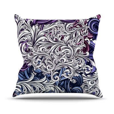 Celtic Floral I by Nick Atkinson Abstract Throw Pillow Size: 26 H x 26 W x 5 D