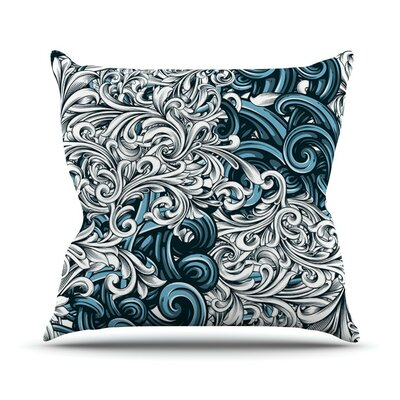 Celtic Floral II by Nick Atkinson Abstract Throw Pillow Size: 16 H x 16 W x 3 D