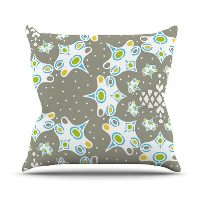 Ornamental Splash Silver by Miranda Mol Throw Pillow Size: 18 H x 18 W x 3 D