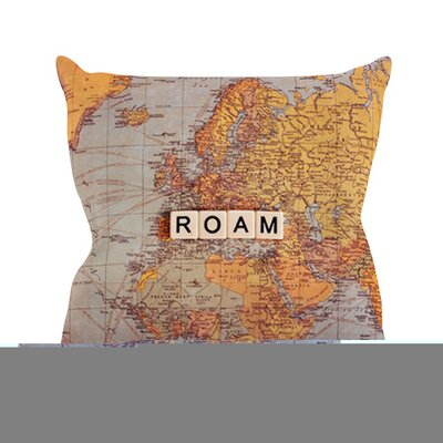 Roam Map by Sylvia Cook World Throw Pillow Size: 20 H x 20 W x 4 D