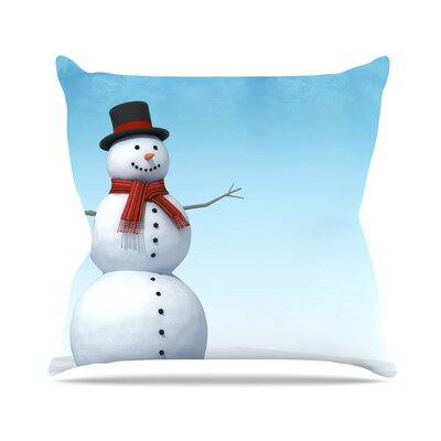 Feelin Frosty by Snap Studio Throw Pillow Size: 18 H x 18 W x 3 D
