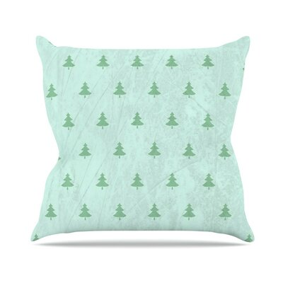 Pine by Snap Studio Throw Pillow Size: 18 H x 18 W x 3 D, Color: Aqua