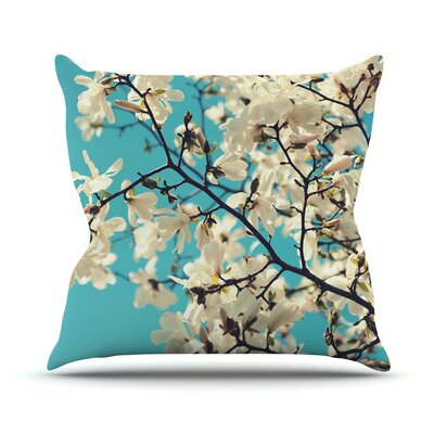 Magnolias by Sylvia Cook Throw Pillow Size: 16 H x 16 W x 3 D