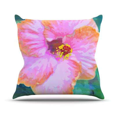 Hibiscus by Sylvia Cook Throw Pillow Size: 18 H x 18 W x 3 D