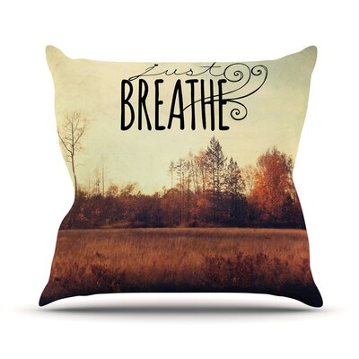 Just Breathe by Sylvia Cook Throw Pillow Size: 18 H x 18 W x 3 D